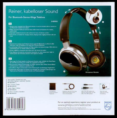 SHB9001 Philips Wireless Headphones